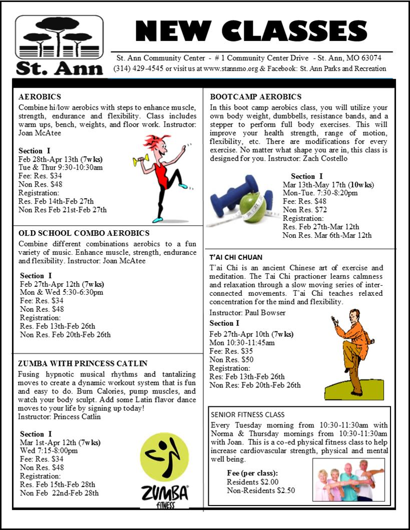 Adult Classes Winter 17 Page 1