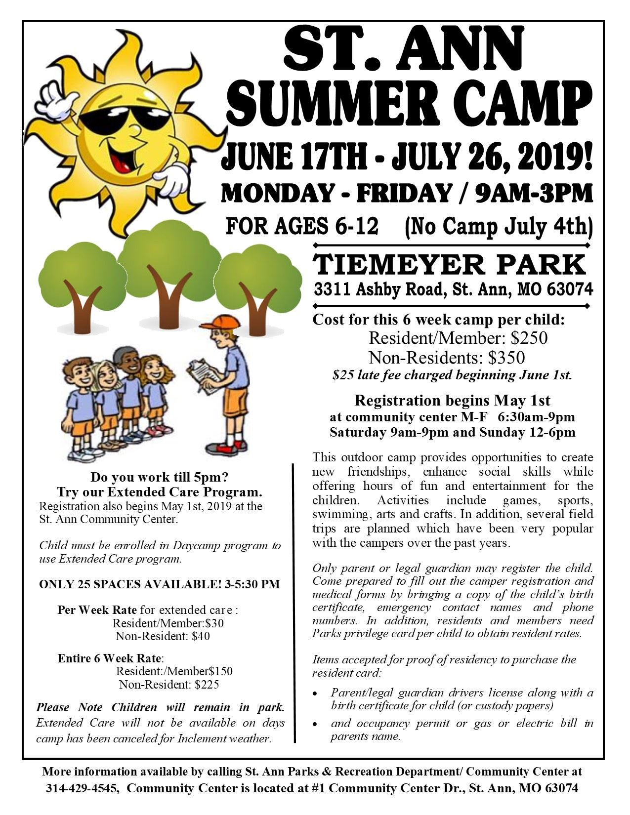 2019 Day Camp Flyer